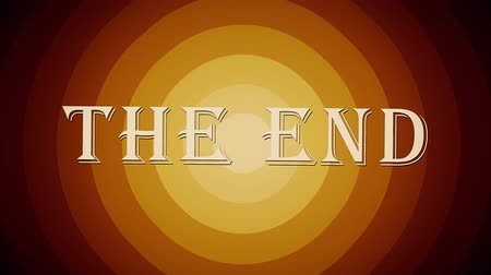 sepia : A retro, old-fashioned Wizard of Oz-style The End movie or film end title page. Includes three distressed film options plus normal, clean version. Stock Footage