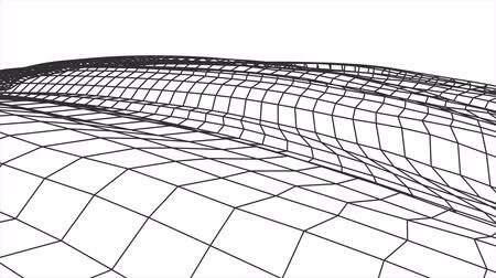 vzorec : retro cyberspace grid net polygonal wireframe hilly landscape seamless loop drawing motion graphics animation background new quality vintage style cool nice beautiful 4k video footage