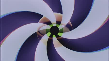 bez szwu : retro TV eye with rotating shiny color spiral seamless loop background intro animation New quality universal vintage dynamic animated colorful joyful nice cool video footage Wideo