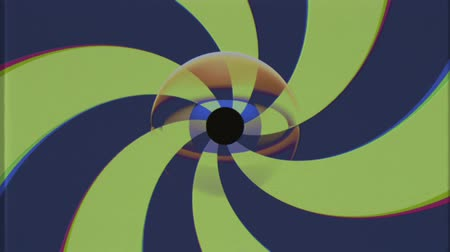 looking for : retro TV eye with rotating shiny color spiral seamless loop background intro animation New quality universal vintage dynamic animated colorful joyful nice cool video footage Stock Footage