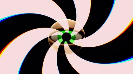 wzrok : retro TV eye with rotating spiral seamless loop background intro animation New quality universal vintage dynamic animated colorful joyful nice cool video footage