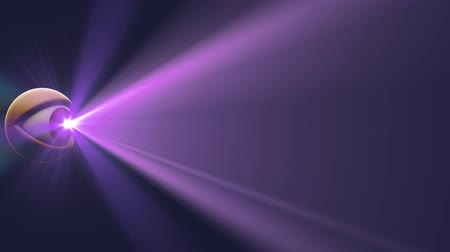 espião : eye with PURPLE light beam shine rays background loop animation New quality universal dynamic animated colorful joyful nice cool video footage Stock Footage