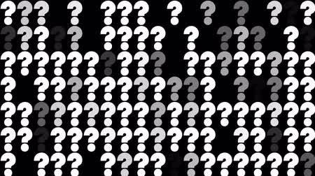 mais : Many question marks blinking seamless loop animation background new dynamic joyful video footage