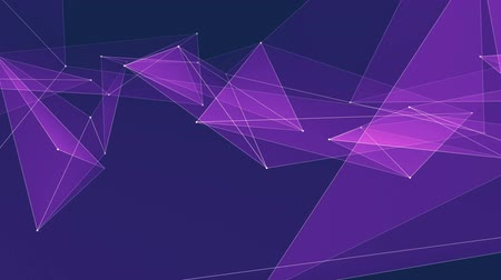 node : abstract PURPLE poligon net connections cloud animation background new quality dynamic technology motion colorful video footage Stock Footage