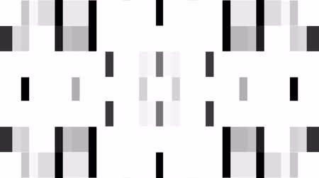 spectrum : abstract black white pixel block moving background New quality universal motion dynamic animated retro vintage colorful joyful dance music video footage