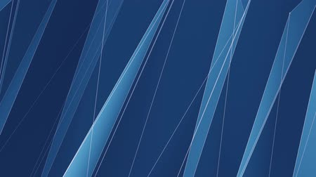 абстрактный фон : abstract BLUE poligon net lines cloud animation background new quality dynamic technology motion colorful video footage Стоковые видеозаписи