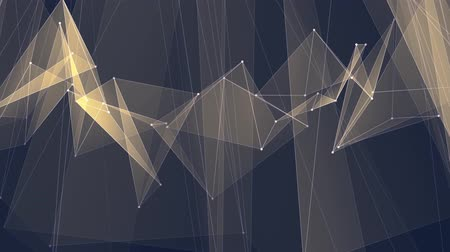 kyberprostor : abstract YELLOW poligon net connections cloud animation background new quality dynamic technology motion colorful video footage