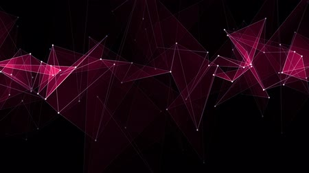 número : abstract RED poligon net connections cloud animation background new quality dynamic technology motion colorful video footage Vídeos