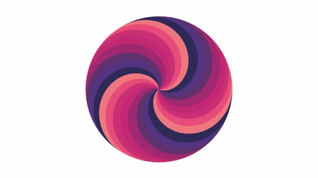 bükülme : Spiral circle shape colors seamless loop rotation animation background new quality universal motion dynamic animated colorful joyful cool nice video footage