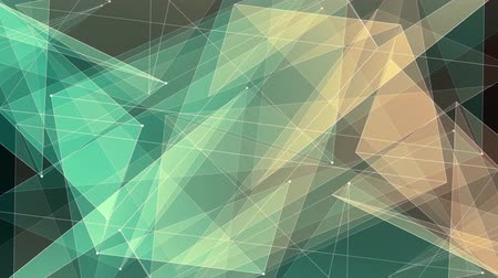 kyberprostor : abstract YELLOW GREEN poligon net connections cloud animation background new quality dynamic technology motion colorful video footage Dostupné videozáznamy
