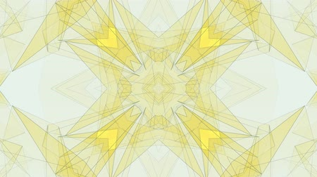 вычислять : abstract symmetrical YELLOW poligon shape net cloud animation background new quality dynamic technology motion colorful video footage