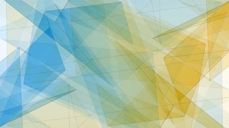 node : abstract symmetrical BLUE YELLOW polygon star shape net shiny cloud animation background new quality dynamic technology motion colorful video footage Stock Footage