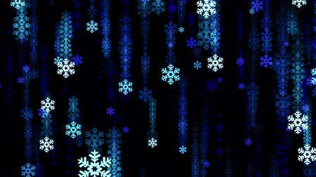 С Рождеством : Festive snowflake snowfall Rain animation background new quality shape universal glamour motion dynamic animated colorful joyful holiday music video footage