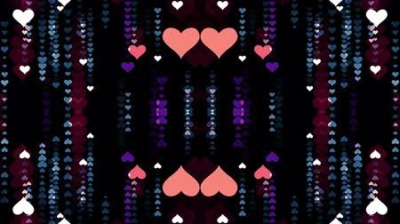 wierd : ornamental heart shaped lights symmetrical kaleidoscopic ethnic tribal psychedelic pattern animation background New quality retro vintage holiday native universal motion dynamic cool nice joyful video