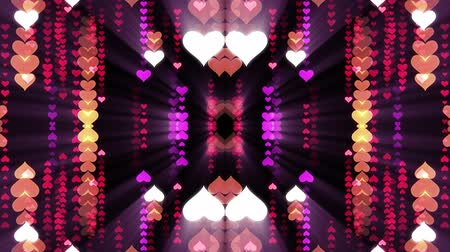 ismétlés : ornamental heart shaped lights symmetrical kaleidoscopic ethnic tribal psychedelic pattern animation background New quality retro vintage holiday native universal motion dynamic cool nice joyful video