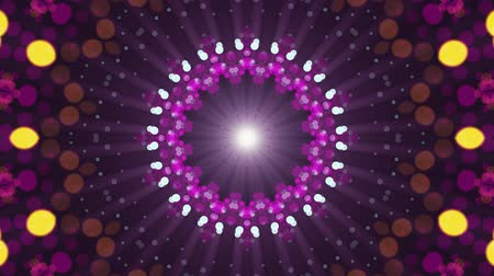 cristal : ornamental lights symmetrical kaleidoscopic ethnic tribal psychedelic pattern animation background New quality retro vintage holiday native universal motion dynamic cool nice joyful music video Stock Footage