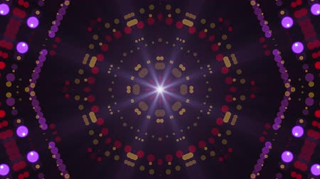 wierd : ornamental lights symmetrical kaleidoscopic ethnic tribal psychedelic pattern animation background New quality retro vintage holiday native universal motion dynamic cool nice joyful music video Stock Footage