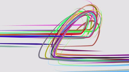 stuha : abstract rainbow color drawn elegant lines stripes beautiful animation background New quality universal motion dynamic animated colorful joyful music video footage
