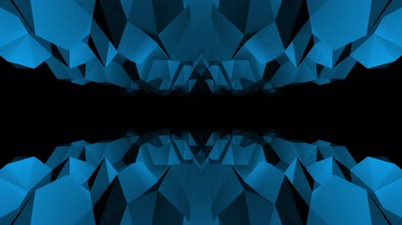 интенсивность : abstract low polygonal blue cave flight seamless loop animation background new unique retro beautiful dynamic cool nice joyful video footage