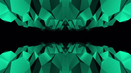 интенсивность : abstract low polygonal green cave flight seamless loop animation background new unique retro beautiful dynamic cool nice joyful video footage
