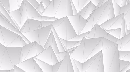 интенсивность : soft flow wave low white polygonal landscape seamless loop animation background new unique retro beautiful dynamic cool nice joyful video footage Стоковые видеозаписи