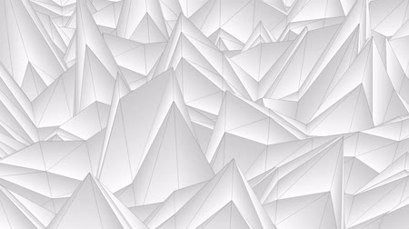 mértani : soft flow wave low white polygonal landscape seamless loop animation background new unique retro beautiful dynamic cool nice joyful video footage Stock mozgókép
