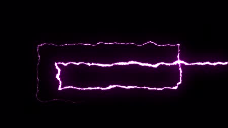гром : loopable PURPLE neon Lightning bolt SPIRAL shape flight on black background animation new quality unique nature light effect video footage