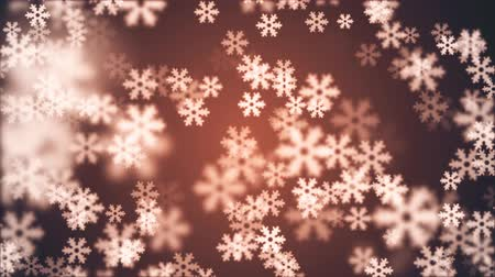 fantázia : random floating snowflake animation background New quality shape universal motion dynamic animated colorful joyful holiday music video footage Stock mozgókép