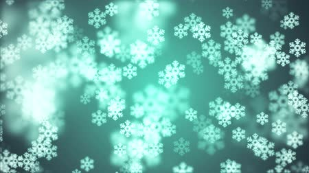 фантастический : random floating snowflake animation background New quality shape universal motion dynamic animated colorful joyful holiday music video footage Стоковые видеозаписи