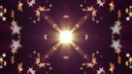 illúzió : symmetrical shiny stars moving fading pattern animation New quality retro vintage holiday shape colorful universal motion dynamic animated joyful dance music video footage