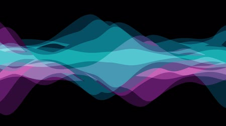 blue braid : soft waving abstract color painting gentle flow animation background new quality dynamic art motion colorful cool nice beautiful video footage Stock Footage