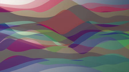 burmak : soft waving abstract color painting gentle flow animation background new quality dynamic art motion colorful cool nice beautiful video footage Stok Video