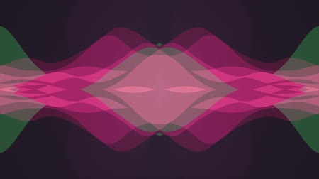 ismétlés : ornamental symmetrical soft color moving waves shape pattern animation background seamless loop New quality retro vintage holiday shape colorful universal motion dynamic animated joyful video footage