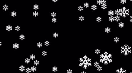 time year : large snowflakes explosion animation background New quality shape universal motion dynamic animated colorful joyful holiday music video footage