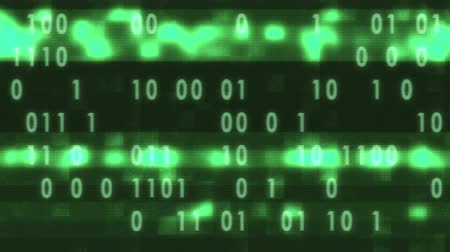 кодирование : white binary code fast random typing on old led lcd display animation background loop - new quality retro vintage numbers letters coding techno joyful video footage