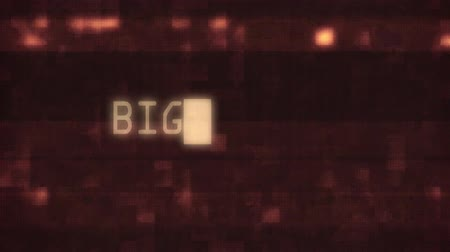 slogan : big sale words text typing writing on old glitch computer lcd led tube tv screen display background blinking animation . New quality universal vintage motion dynamic animated retro colorful video