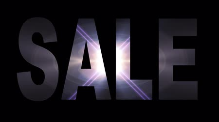 hétfő : Sale text in light flash explosion shiny animation loop on black background new quality cool nice motion joyful addvertisement commercial video footage loop design
