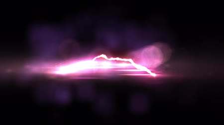 powerful : animated red Lightning bolt flight on black background seamless loop animation new quality unique nature light effect video footage