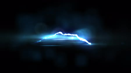 descarga : animated blue Lightning bolt flight on black background seamless loop animation new quality unique nature light effect video footage Vídeos