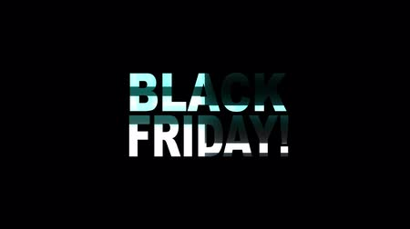 bocado : cool neon glitch BLACK FRIDAY text animation background logo seamless loop New quality universal technology motion dynamic animated background colorful joyful video