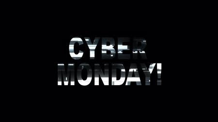 obsoleto : cool neon glitch CYBER MONDAY text animation background logo seamless loop New quality universal technology motion dynamic animated background colorful joyful video