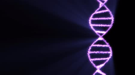 evolução : DNA spiral molecule rotating animation background new quality beautiful natural health cool nice stock video footage