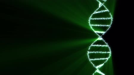 dvojitý : DNA spiral molecule rotating animation background new quality beautiful natural health cool nice stock video footage