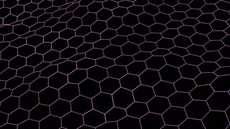 vzorec : hexagonal grid net waving field landscape seamless loop drawing motion graphics animation background new quality vintage style cool nice beautiful 4k video footage Dostupné videozáznamy