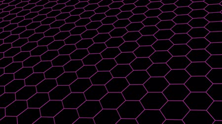 vzorec : hexagonal grid net field landscape seamless loop drawing motion graphics animation background new quality vintage style cool nice beautiful 4k stock video footage Dostupné videozáznamy