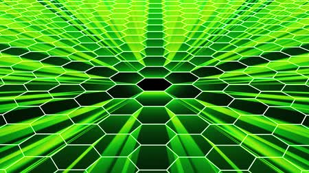 futuristický : shiny hexagonal grid net field landscape seamless loop drawing motion graphics animation background new quality vintage style cool nice beautiful 4k video footage