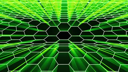 vzorec : shiny hexagonal grid net waving field landscape seamless loop drawing motion graphics animation background new quality vintage style cool nice beautiful 4k video footage
