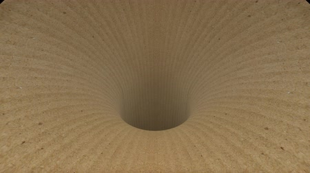 huni : cardboard wormhole funnel tunnel flight seamless loop animation background new quality vintage style cool nice beautiful 4k stock video footage