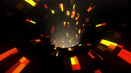 speed tunnel : colorful technological glitch distortion wormhole funnel tunnel flight loop animation background new quality vintage style cool nice beautiful 4k stock video footage Stock Footage