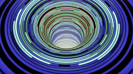 dimensão : Colorful wormhole funnel tunnel flight seamless loop animation background new quality vintage style cool nice beautiful 4k stock video footage